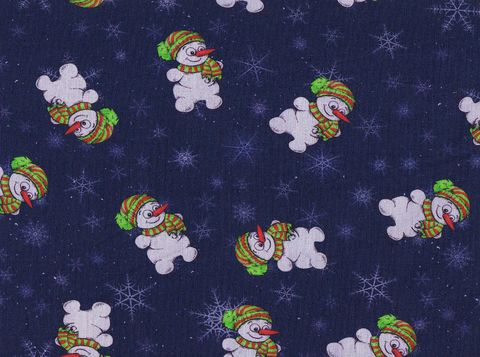 Cotton,Quilt,Fabric,Christmas,Classics,Jolly,Snowman,Hats,Scarves,Navy,,quilt backing, dresses, quilt fabric,cotton material,auntie chris quilt,sewing,crafts,quilting,online fabric,sale fabric