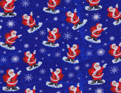 Cotton,Quilt,Fabric,Christmas,Classics,Jolly,Santa,Blue,,quilt backing, dresses, quilt fabric,cotton material,auntie chris quilt,sewing,crafts,quilting,online fabric,sale fabric