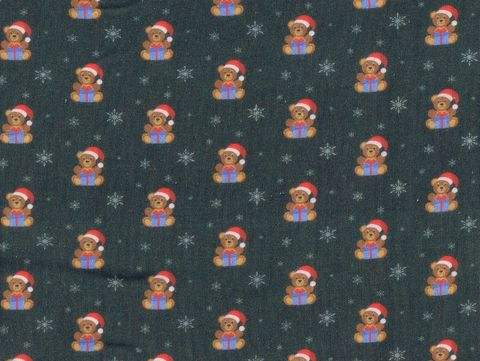 Cotton,Quilt,Fabric,Christmas,Classics,Santa,Hat,Teddy,Bear,Olive,Green,,quilt backing, dresses, quilt fabric,cotton material,auntie chris quilt,sewing,crafts,quilting,online fabric,sale fabric