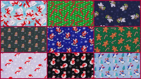 Cotton,Quilt,Fabric,Fat,Quarter,Medley,Classic,Kiddies,Christmas,2,1/4,Yards,,quilt backing, dresses, quilt fabric,cotton material,auntie chris quilt,sewing,crafts,quilting,online fabric,sale fabric