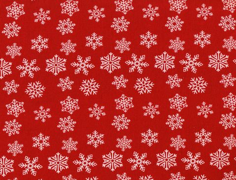 Cotton,Quilt,Fabric,Christmas,Traditional,Red,White,Snowflakes,,quilt backing, dresses, quilt fabric,cotton material,auntie chris quilt,sewing,crafts,quilting,online fabric,sale fabric