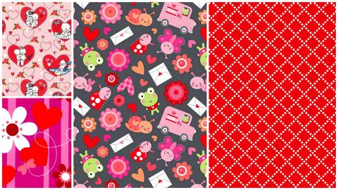 Quick,Cuts,Cotton,Quilt,Fabric,Love,Bug,Valentine,Coordinated,2,Yard,Medley,,quilt backing, dresses, quilt fabric,cotton material,auntie chris quilt,sewing,crafts,quilting,online fabric,sale fabric