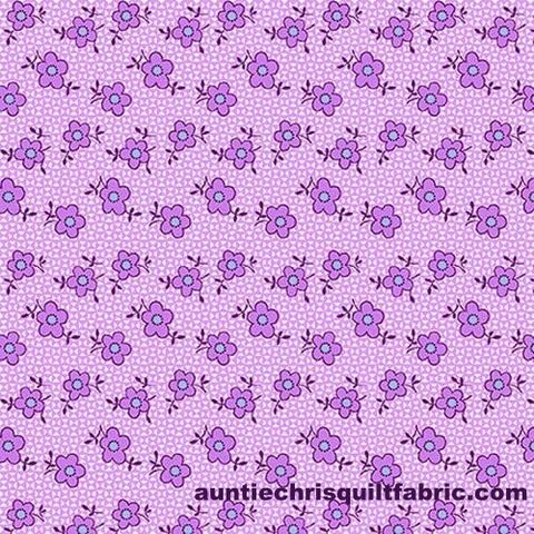 Cotton,Quilt,Fabric,NANA,MAE,III,Thirties,Reproduction,Spaced,Daisy,Purple,,quilt backing, dresses, quilt fabric,cotton material,auntie chris quilt,sewing,crafts,quilting,online fabric,sale fabric