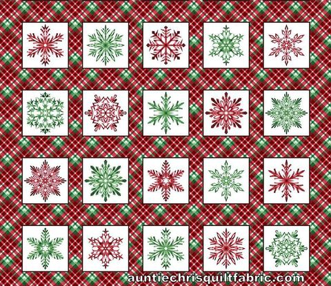 Cotton,Quilt,Fabric,Hometown,Holiday,Christmas,Panel,Plaid,Snowflake,Blocks,,quilt backing, dresses, quilt fabric,cotton material,auntie chris quilt,sewing,crafts,quilting,online fabric,sale fabric