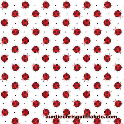 Cotton,Quilt,Fabric,Numbers,In,The,Jungle,White,Lady,Bug,,quilt backing, dresses, quilt fabric,cotton material,auntie chris quilt,sewing,crafts,quilting,online fabric,sale fabric