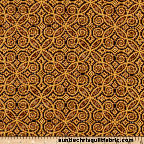 Cotton,Quilt,Fabric,Silent,Night,Arabesque,Metallic,,quilt backing, dresses, quilt fabric,cotton material,auntie chris quilt,sewing,crafts,quilting,online fabric,sale fabric