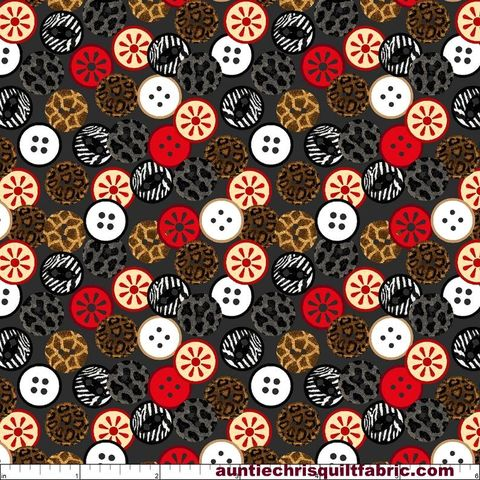 Cotton,Quilt,Fabric,Sewing,Mends,the,Soul,Buttons,Charcoal,Gray,Multi,,quilt backing, dresses, quilt fabric,cotton material,auntie chris quilt,sewing,crafts,quilting,online fabric,sale fabric