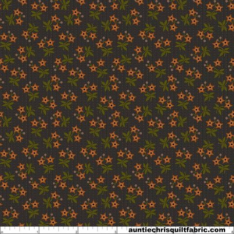 Cotton,Quilt,Fabric,Moonshine,Star,Flowers,Charcoal,Folk,Art,Floral,,quilt backing, dresses, quilt fabric,cotton material,auntie chris quilt,sewing,crafts,quilting,online fabric,sale fabric