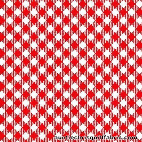 Cotton,Quilt,Fabric,Best,Friends,Farm,Red,White,Gingham,Check,,quilt backing, dresses, quilt fabric,cotton material,auntie chris quilt,sewing,crafts,quilting,online fabric,sale fabric