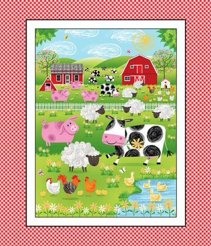 Cotton,Quilt,Fabric,Best,Friends,Farm,Animal,Banner,Panel,36,,quilt backing, dresses, quilt fabric,cotton material,auntie chris quilt,sewing,crafts,quilting,online fabric,sale fabric