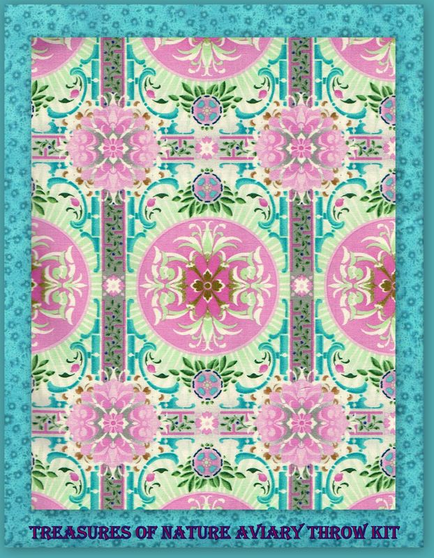 "Easy Quilt In A Day Treasures Of Nature Aviary Throw Kit  51"" x 67"" - product images  of"