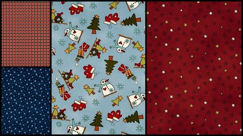 Quick,Cuts,Cotton,Quilt,Fabric,My,Red,Wagon,Winter,2,Yard,Medley,,quilt backing, dresses, quilt fabric,cotton material,auntie chris quilt,sewing,crafts,quilting,online fabric,sale fabric