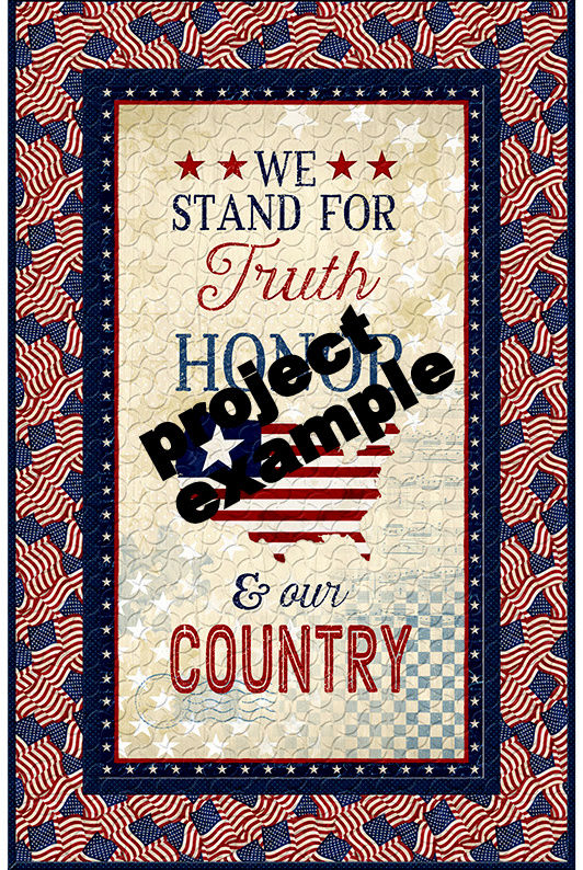 "Cotton Quilt Fabric America My Home American Patriot Panel Multi 24"" - product images  of"