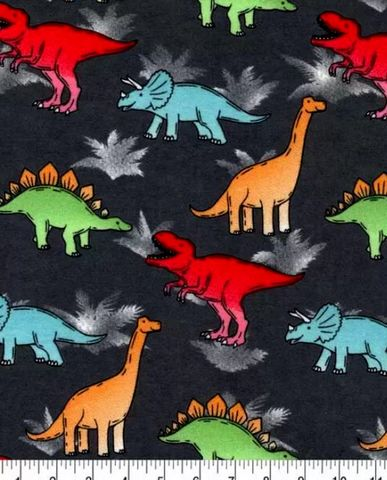 Cotton,Quilt,Fabric,Flannel,Bright,Dinos,on,Gray,Multi,,quilt backing, dresses, quilt fabric,cotton material,auntie chris quilt,sewing,crafts,quilting,online fabric,sale fabric