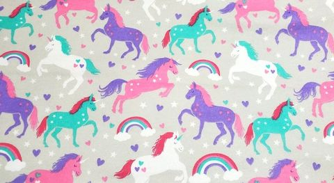Cotton,Quilt,Fabric,Flannel,Stars,And,Hearts,Unicorns,Gray,Multi,,quilt backing, dresses, quilt fabric,cotton material,auntie chris quilt,sewing,crafts,quilting,online fabric,sale fabric