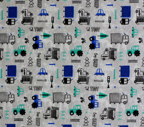 Cotton,Quilt,Fabric,Flannel,Beep,Super,Snuggle,Gray,Multi,,quilt backing, dresses, quilt fabric,cotton material,auntie chris quilt,sewing,crafts,quilting,online fabric,sale fabric