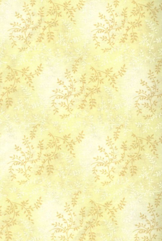 Cotton Quilt Fabric Tonal Vineyard Vines Leaves Tone On Tone Beige Tan - product images  of