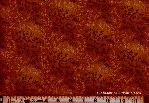 Cotton,Quilt,Fabric,Tonal,Vineyard,Vines,Leaves,Tone,On,Rusty,Brown,,quilt backing, dresses, quilt fabric,cotton material,auntie chris quilt,sewing,crafts,quilting,online fabric,sale fabric