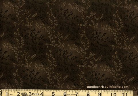 Cotton,Quilt,Fabric,Tonal,Vineyard,Vines,Leaves,Tone,On,Dark,Cocoa,,quilt backing, dresses, quilt fabric,cotton material,auntie chris quilt,sewing,crafts,quilting,online fabric,sale fabric