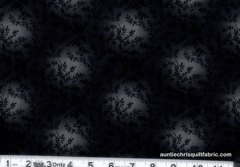 Cotton,Quilt,Fabric,Tonal,Vineyard,Vines,Leaves,Tone,On,Black,,quilt backing, dresses, quilt fabric,cotton material,auntie chris quilt,sewing,crafts,quilting,online fabric,sale fabric
