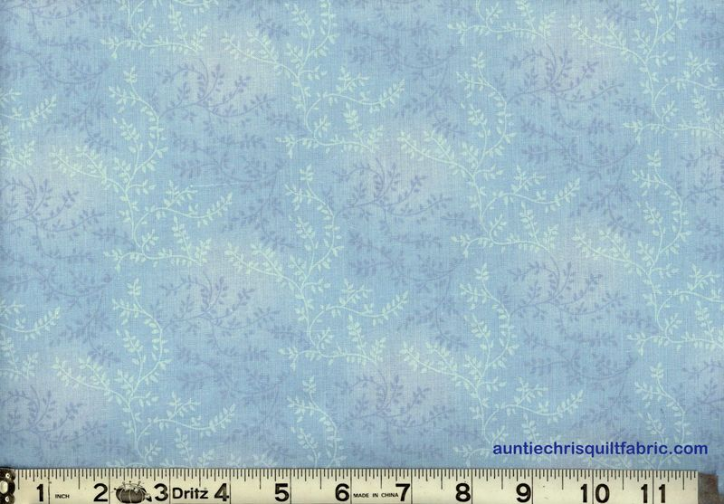 Cotton Quilt Fabric Tonal Vineyard Vines Leaves Tone On Tone Lt Blue - product images  of