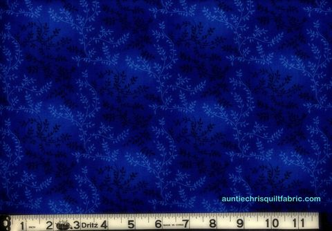 Cotton,Quilt,Fabric,Tonal,Vineyard,Vines,Leaves,Tone,On,Dark,Royal,Blue,,quilt backing, dresses, quilt fabric,cotton material,auntie chris quilt,sewing,crafts,quilting,online fabric,sale fabric
