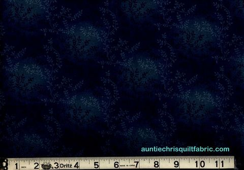 Cotton,Quilt,Fabric,Tonal,Vineyard,Vines,Leaves,Tone,On,Dk,Navy,Blue,,quilt backing, dresses, quilt fabric,cotton material,auntie chris quilt,sewing,crafts,quilting,online fabric,sale fabric