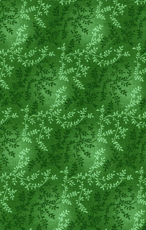 Cotton Quilt Fabric Tonal Vineyard Vines Leaves Tone On Tone Dark Green - product images  of