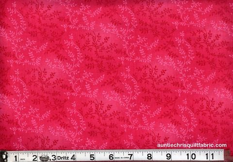 Cotton,Quilt,Fabric,Tonal,Vineyard,Vines,Leaves,Tone,On,Hot,Pink,,quilt backing, dresses, quilt fabric,cotton material,auntie chris quilt,sewing,crafts,quilting,online fabric,sale fabric