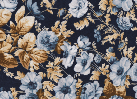 Cotton,Quilt,Fabric,Boundless,Blue,Belle,Navy,Tan,Large,Floral,,quilt backing, dresses, quilt fabric,cotton material,auntie chris quilt,sewing,crafts,quilting,online fabric,sale fabric