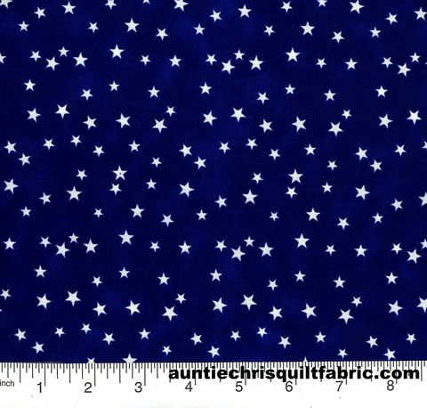 Cotton,Quilt,Fabric,Patriotic,Navy,Blue,White,Stars,,quilt backing, dresses, quilt fabric,cotton material,auntie chris quilt,sewing,crafts,quilting,online fabric,sale fabric