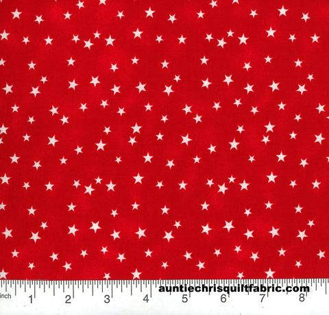 Cotton,Quilt,Fabric,Patriotic,Red,White,Stars,,quilt backing, dresses, quilt fabric,cotton material,auntie chris quilt,sewing,crafts,quilting,online fabric,sale fabric