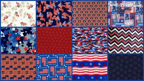 Cotton,Quilt,Fabric,Patriotic,Valor,1/2,Yard,Medley,6,yards,,quilt backing, dresses, quilt fabric,cotton material,auntie chris quilt,sewing,crafts,quilting,online fabric,sale fabric