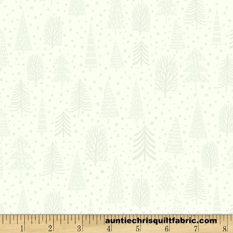 Cotton,Quilt,Fabric,Snowy,Magic,White,On,Pine,Trees,Christmas,,quilt backing, dresses, quilt fabric,cotton material,auntie chris quilt,sewing,crafts,quilting,online fabric,sale fabric
