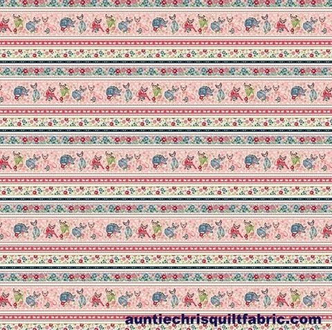 Cotton,Quilt,Fabric,Fancy,Cats,Border,Stripe,Multi,Floral,,quilt backing, dresses, quilt fabric,cotton material,auntie chris quilt,sewing,crafts,quilting,online fabric,sale fabric