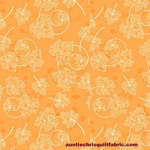 Cotton,Quilt,Fabric,Pumpkin,Spice,Textured,Leaves,Orange,Fall,Autumn,,quilt backing, dresses, quilt fabric,cotton material,auntie chris quilt,sewing,crafts,quilting,online fabric,sale fabric