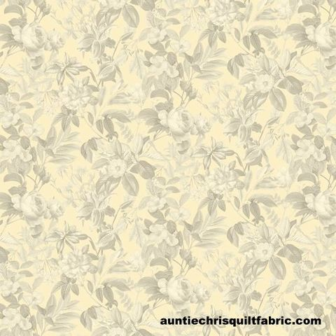 Cotton,Quilt,Fabric,Secret,Escape,588,Cream,Tonal,Floral,,quilt backing, dresses, quilt fabric,cotton material,auntie chris quilt,sewing,crafts,quilting,online fabric,sale fabric