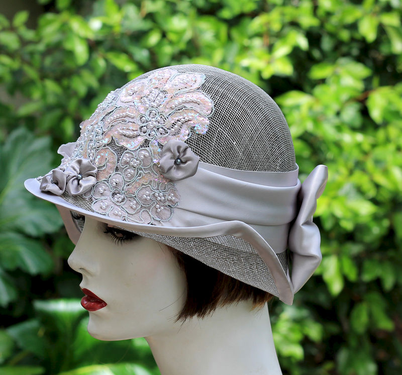20's Sinamay Wide Brim Summer Wedding Tea Party Hat  - product image