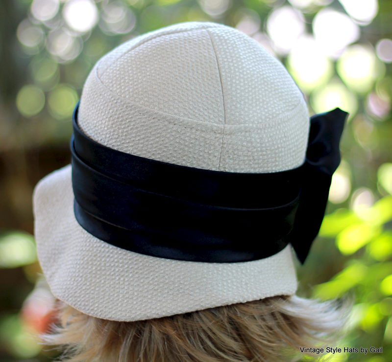 20s Downton Abbey Style Hat Ivory  - product image