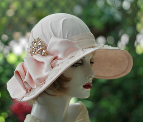 Mother,of,the,Bride,Wide,Brim,Tea,Party,Hat,Lace,Vintage,Style,vintage inspired hat,wide brim hat, pink hat  lace hat,wedding hat,edwardian hat ,victorian hat,kentuckey derby hat, formal hat