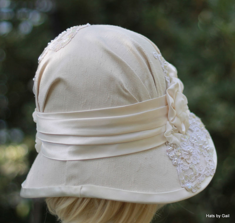 Formal Wide Brim Vintage Style Wedding Hat Tea Party - product image