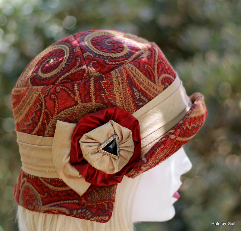 1920s BoHo Style Fall Winter Fabric Hat  - product image