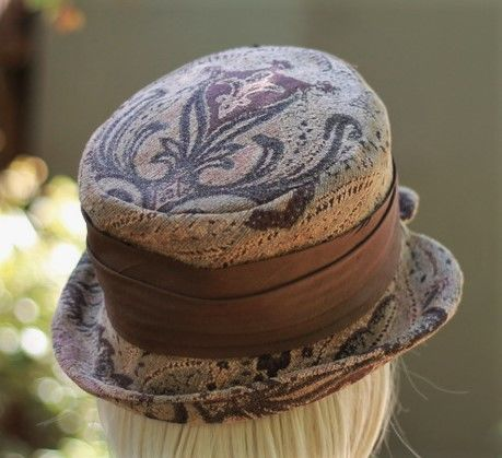 Brown Tapestry Edwardian Steampunk Boho Ridding Bucket Hat - product image