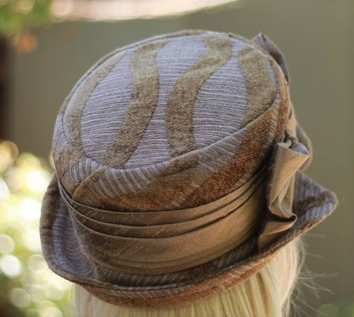 Bucket Hat Steampunk Boho Ridding Style in Brown - product image
