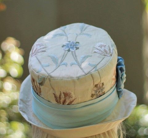 Bucket Hat in Brocade Tapestry Fabric Vintage Style  - product image
