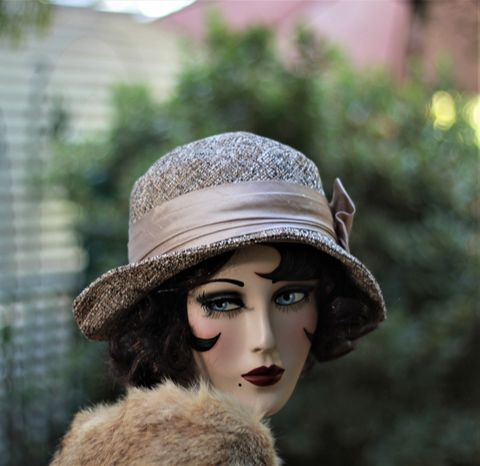 Cute,Fall,Winter,Warm,Hat,in,20s,Cloche,Flapper,Style,fall season hats, cloche winter hat, flapper hat, classic hats, couture hat, cloche hat,fall hats, winter hat,chemo hats,chemo fashion hats