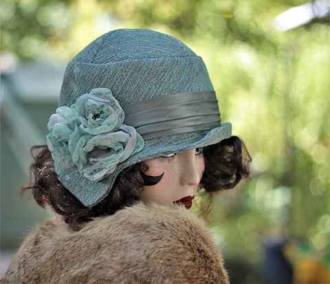 Fall,Winter,Warm,Fashion,Chemo,Hat,in,20s,Great,Gatsby,Style,fall season hats, cloche winter hat, flapper hat, classic hats, couture hat, cloche hat,fall hats, winter hat,chemo hat,chemo hats,chemo fashion hats