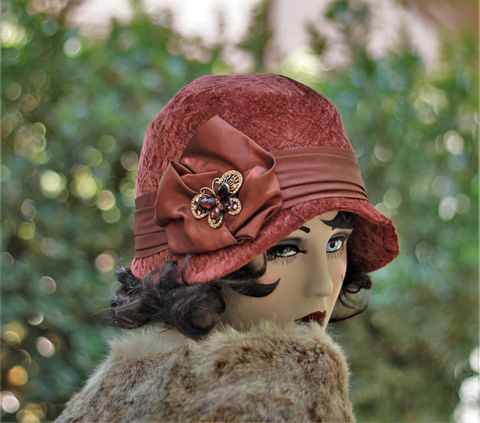 20s,Flapper,Fall,Winter,Warm,Cloche,Chemo,Hat,hat, cloche hats, fall hats, winter hats,  fabric hats, warm hat, wool hat, flapper hats,chemo hats,casual hat