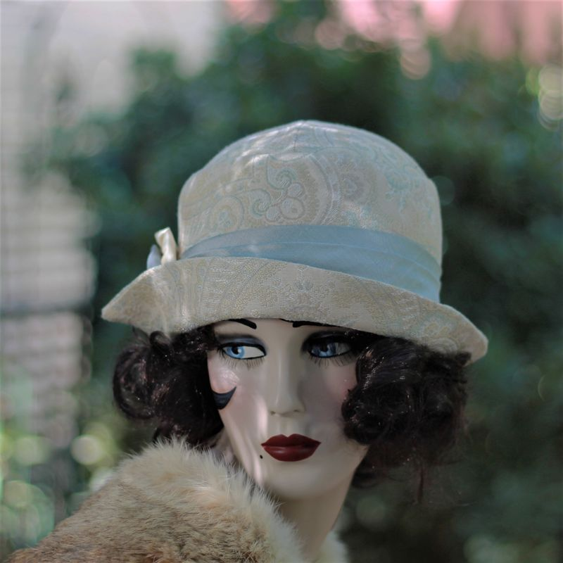 20s Great Gatsby Flapper Hat Fall Winter  - product image