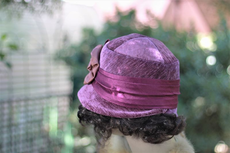 1920's Winter Cloche Flapper Warm Chemo Hat  - product image
